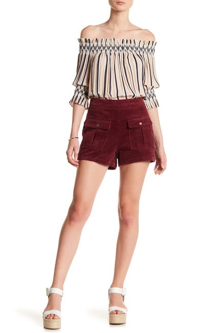 Image of Moon River High Waisted Corduroy Shorts