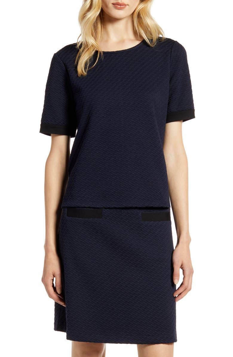 HALOGEN<SUP>®</SUP> Jacquard Knit Top, Main, color, NAVY