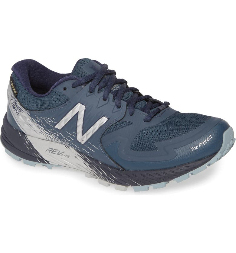 NEW BALANCE Summit Q.O.M. Gore-Tex<sup>®</sup> Waterproof Trail Running Shoe, Main, color, PETROL