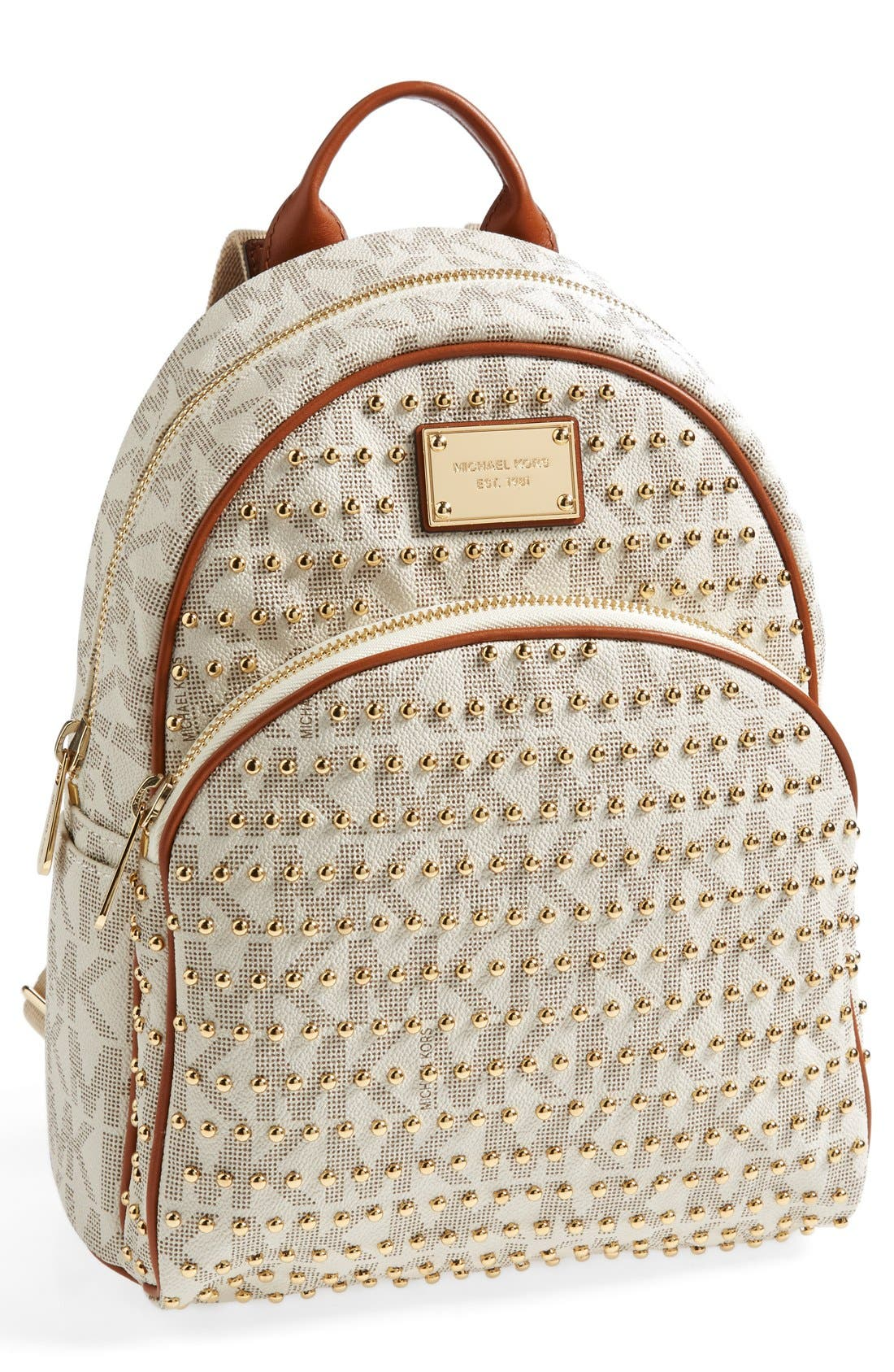 'Small' Studded Backpack, Main, color, 150