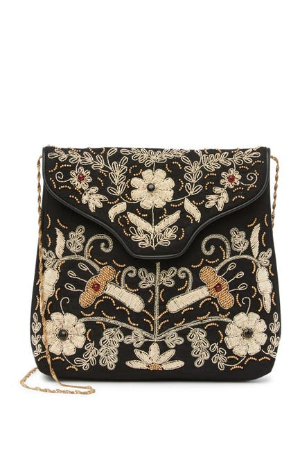 Image of Ricki Designs Fine Thread Embroidered Crossbody Bag