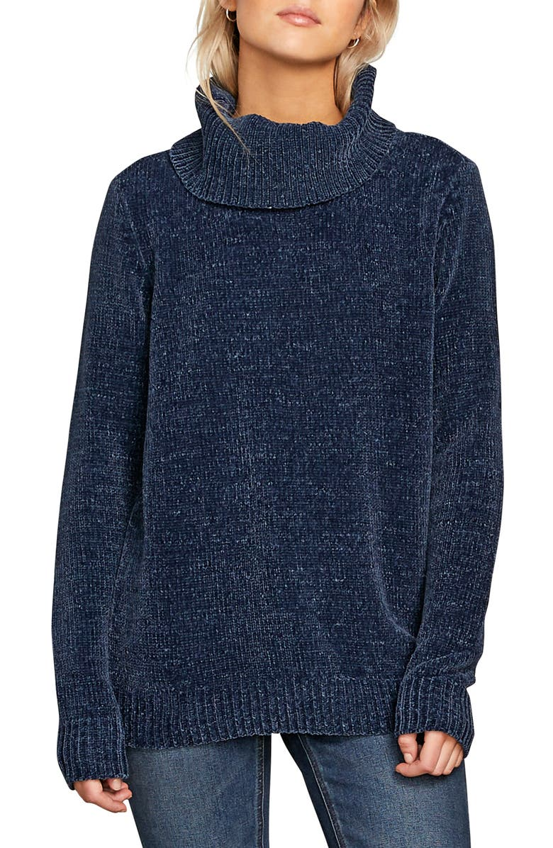 VOLCOM Cozy on Over Chenille Turtleneck Sweater, Main, color, 400