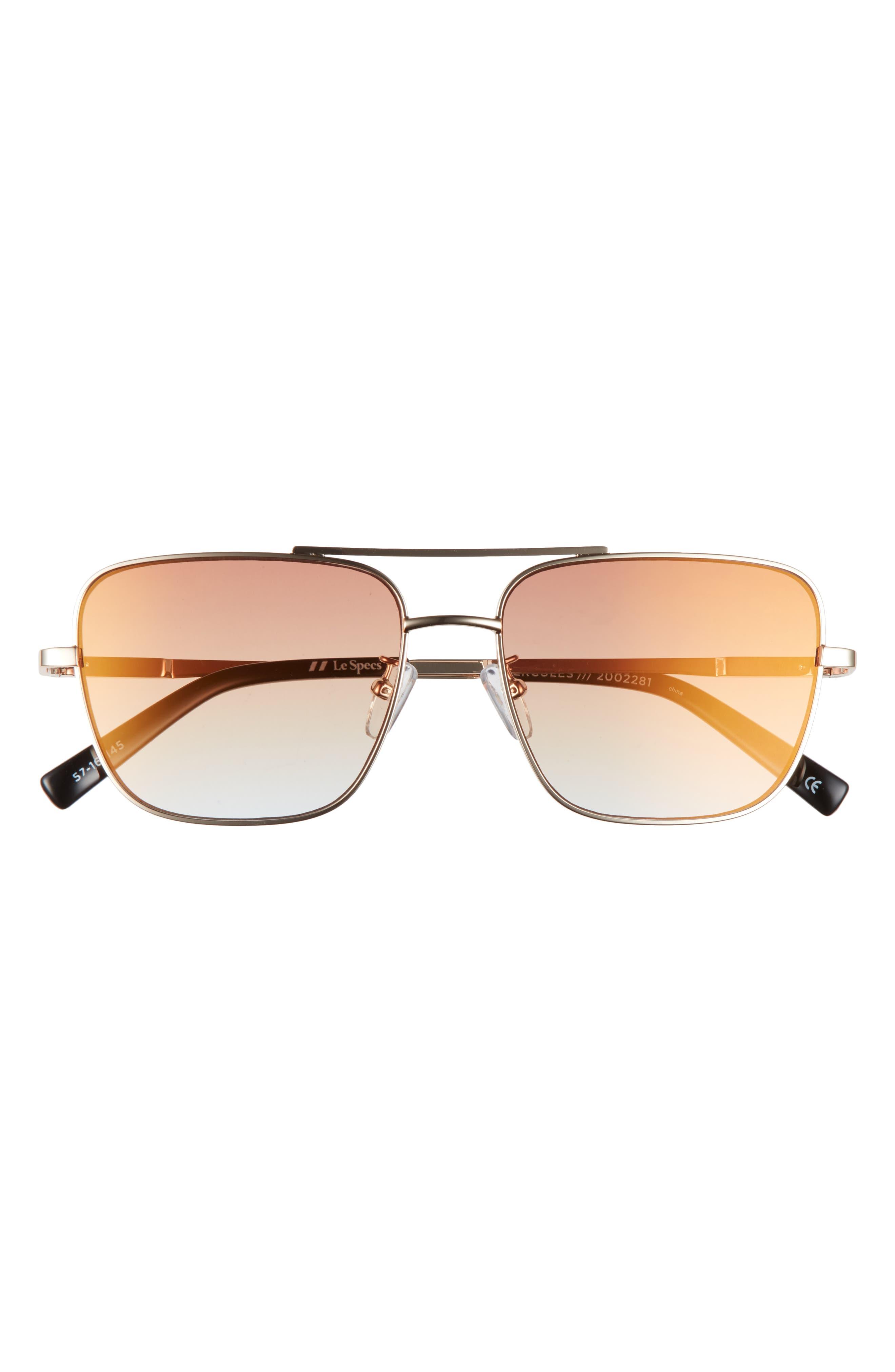 Hercules 56mm Aviator Sunglasses