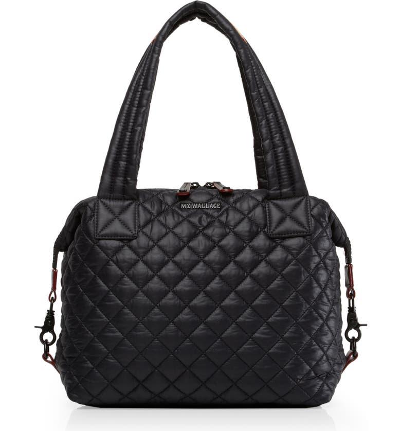 MZ WALLACE Medium Sutton Bag, Main, color, BLACK/ BLACK