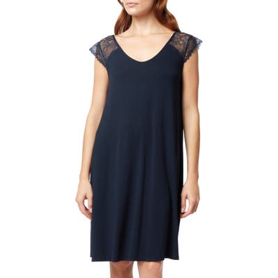 The White Company Lace Sleeve Nightgown, Blue