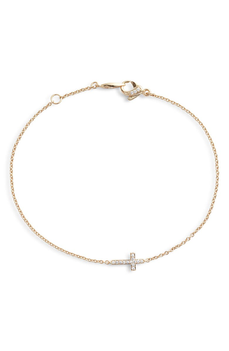 NADRI Cross Chain Bracelet, Main, color, 710