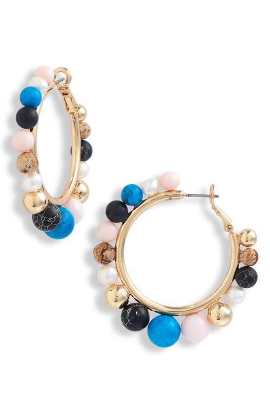 MIGNONNE GAVIGAN Earrings FRESHWATER PEARL HOOP EARRINGS
