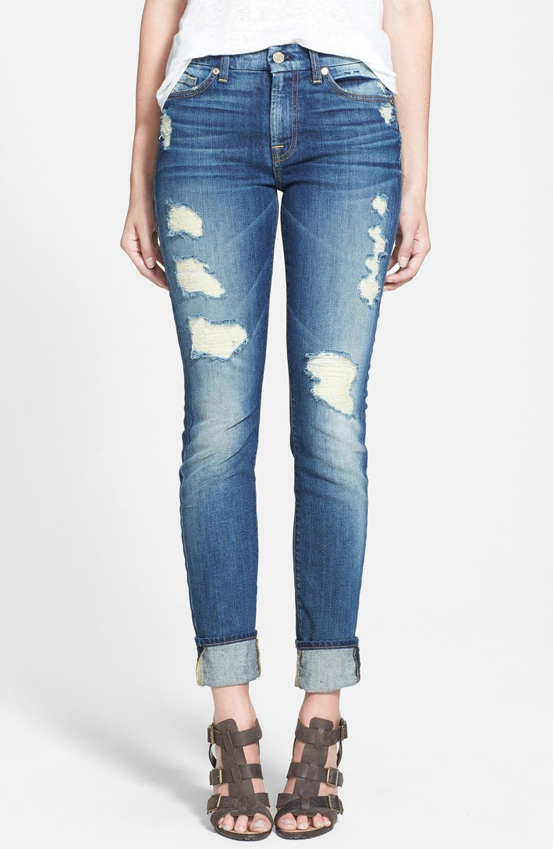 7 FOR ALL MANKIND<SUP>®</SUP> Skinny Jeans, Main, color, 400