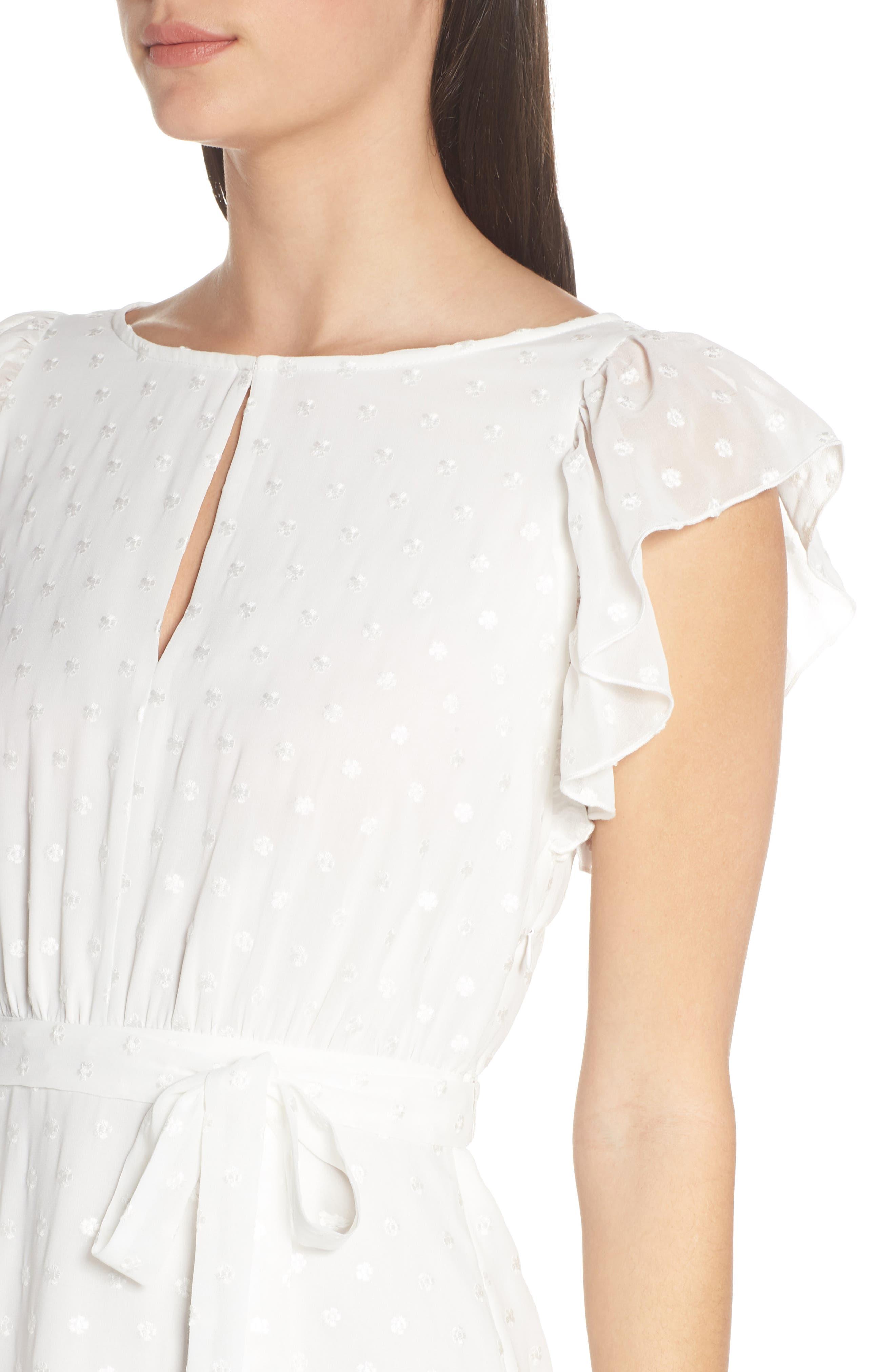 ,                             Isn't She Lovely Ruffle Midi Dress,                             Alternate thumbnail 5, color,                             104