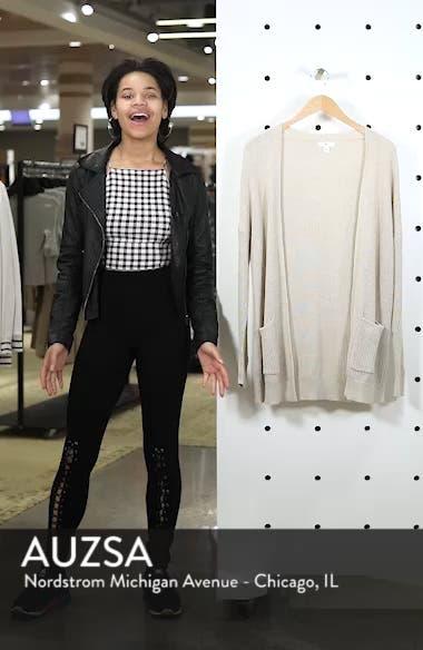 Open Front Cotton Cardigan, sales video thumbnail