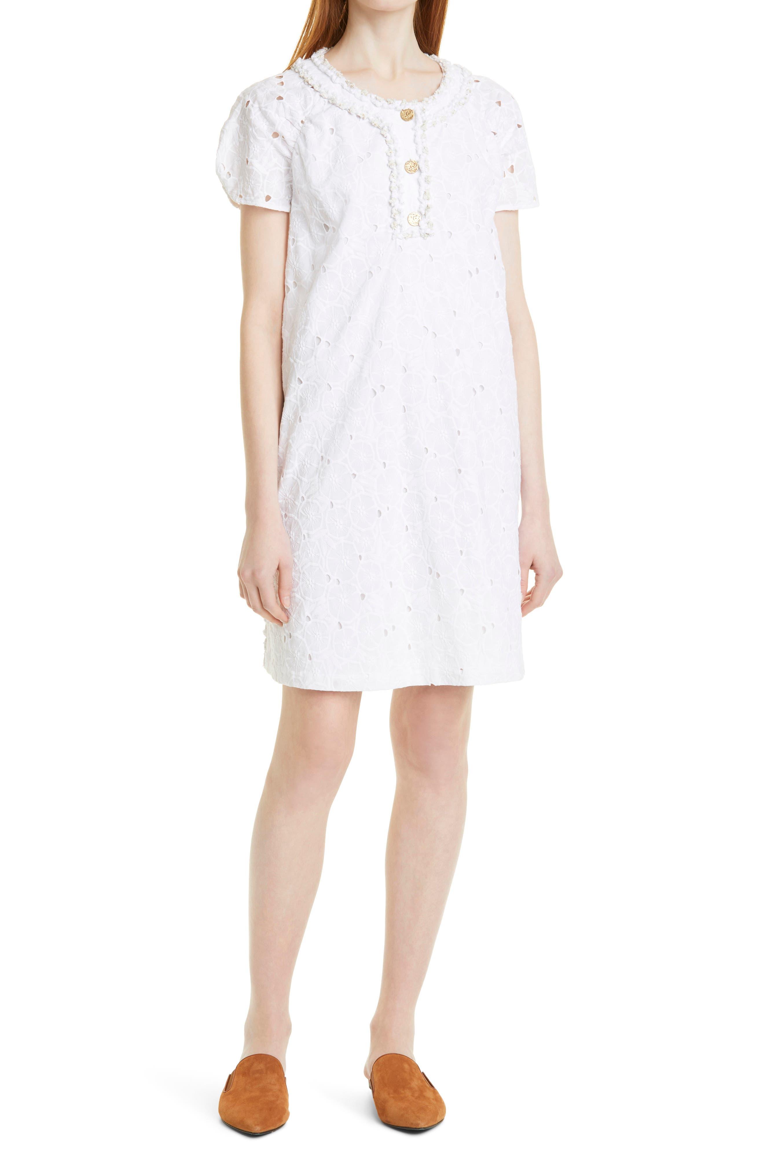 Floral Cutwork Tunic Dress