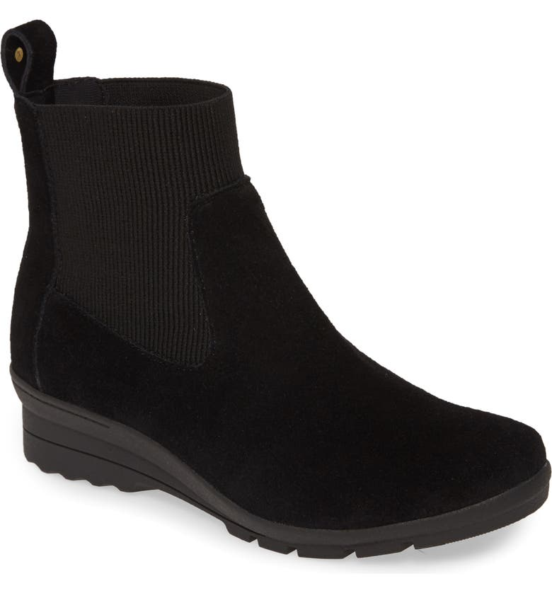 TARYN ROSE Emilyn Chelsea Boot, Main, color, BLACK SUEDE