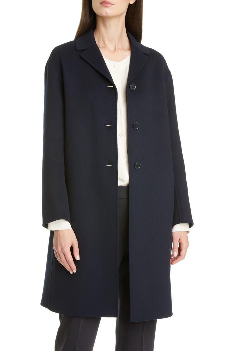 MAX MARA Chic Wool Coat, Main, color, MIDNIGHT BLUE
