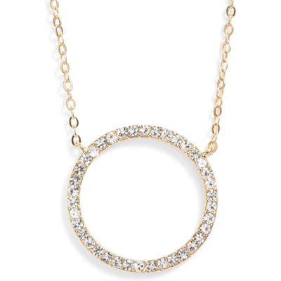 Nordstrom Pave Open Circle Pendant Necklace