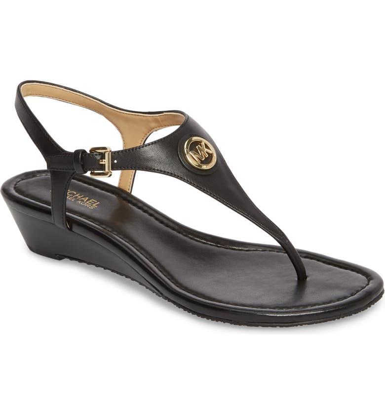 MICHAEL MICHAEL KORS 'Ramona' Wedge Sandal, Main, color, 002