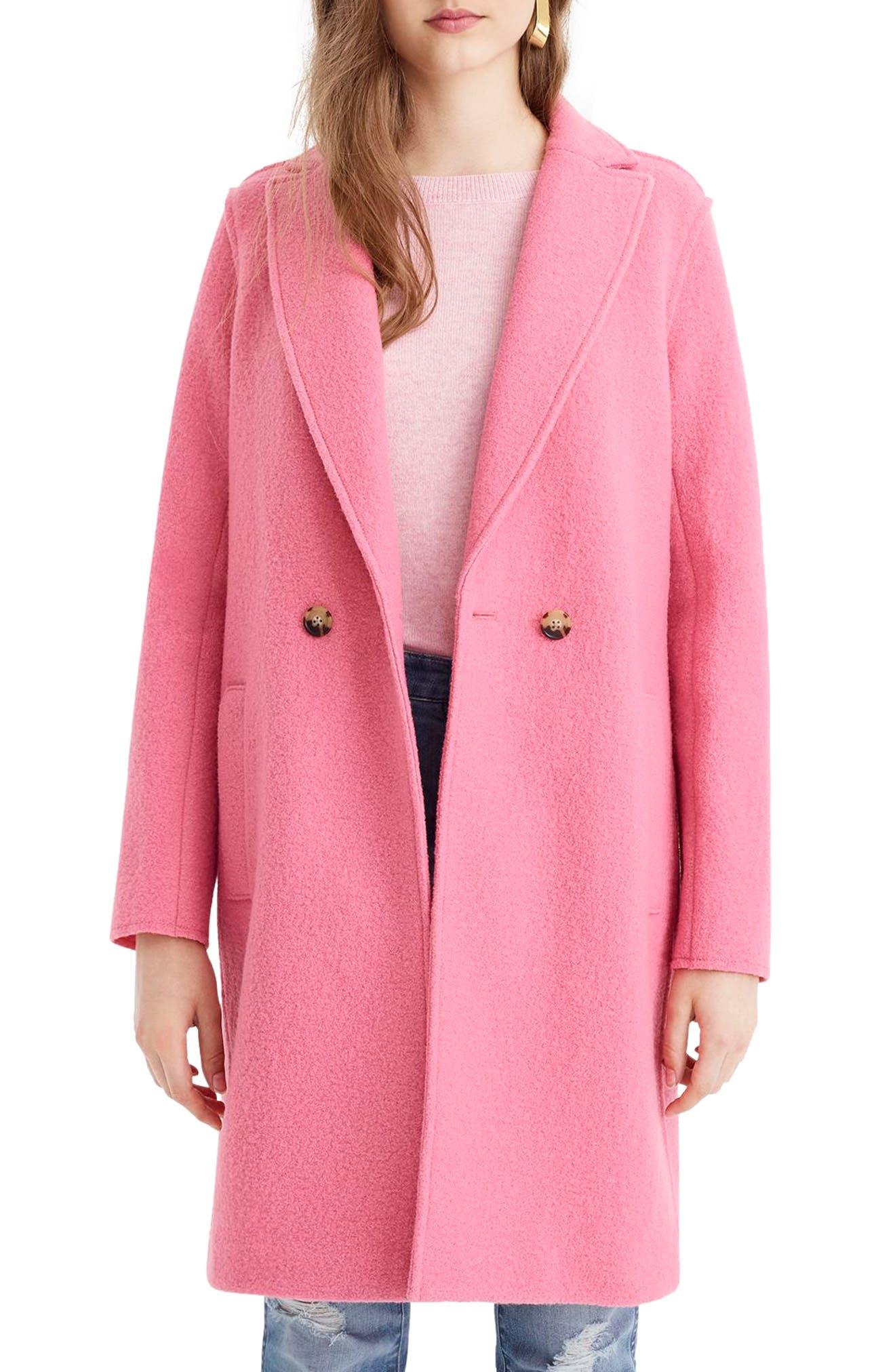 ,                             Daphne Boiled Wool Topcoat,                             Main thumbnail 47, color,                             650