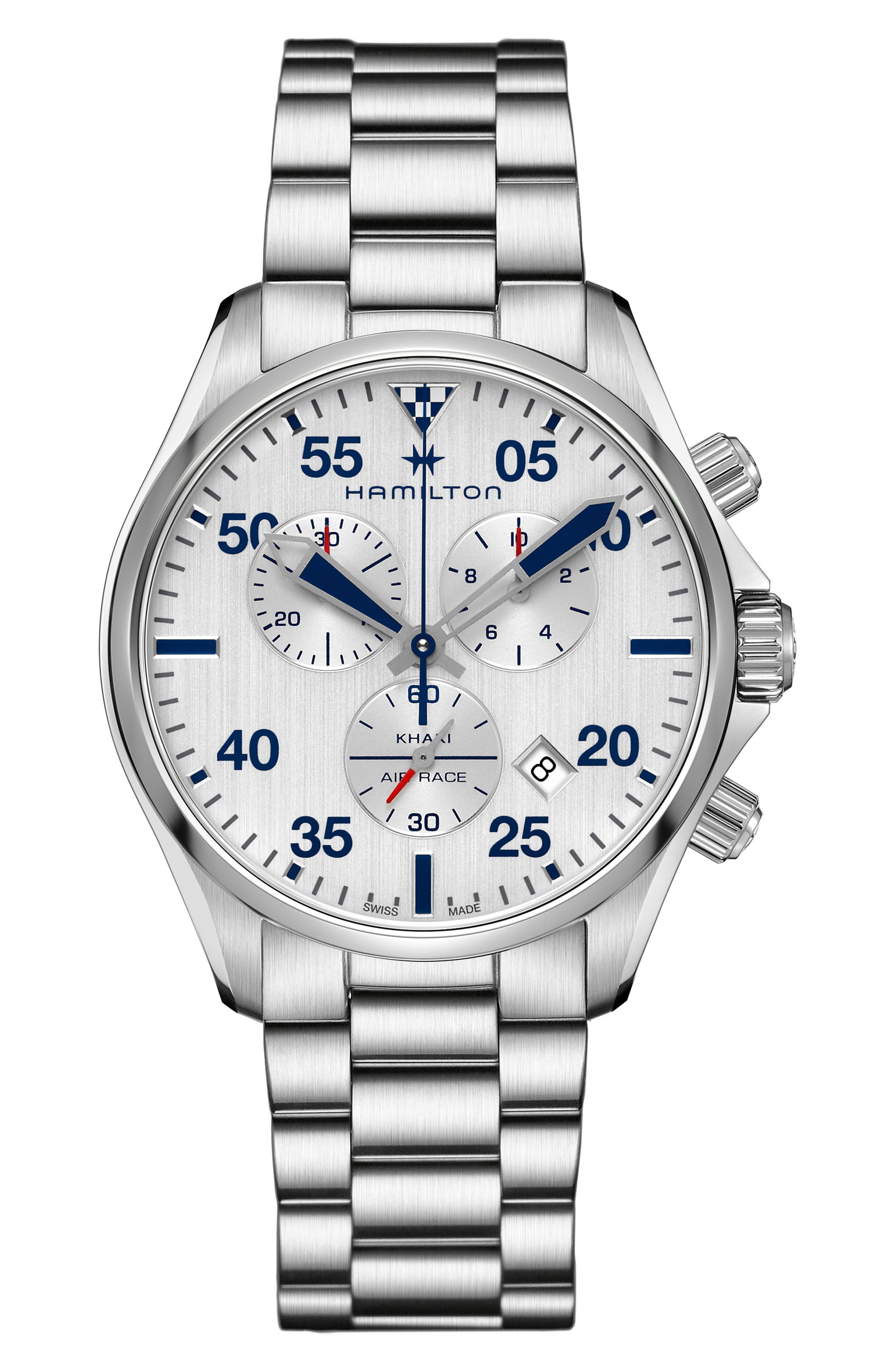 Image of Hamilton Men's Khaki Pilot Aviation Bracelet Watch, 44mm