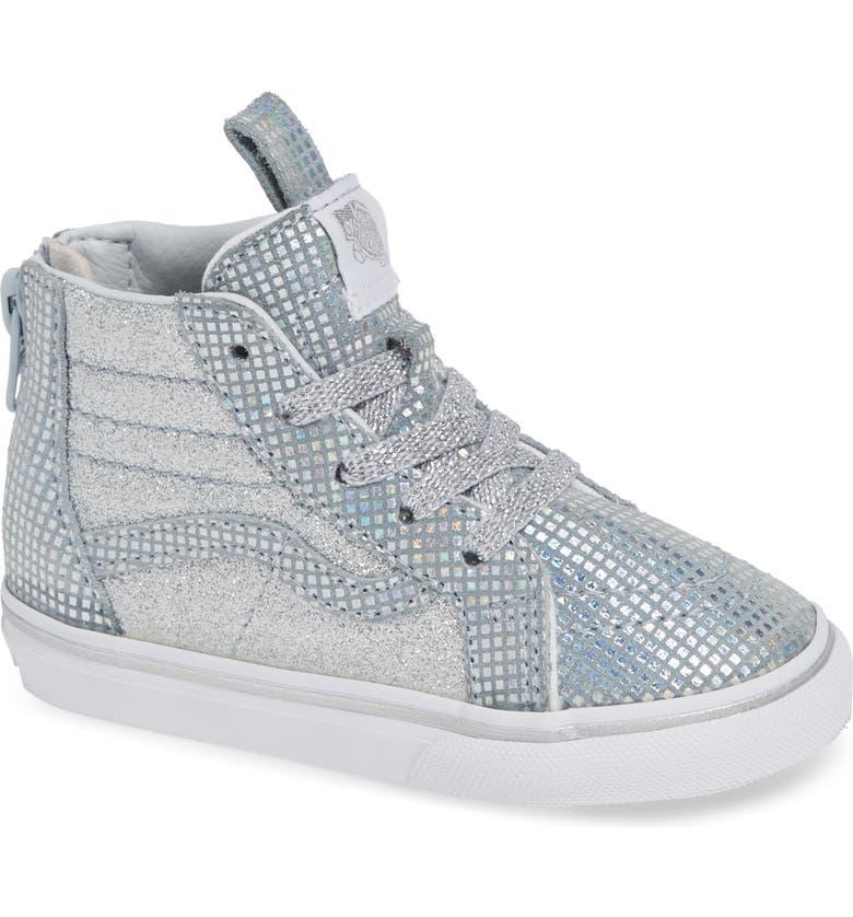 60f56729fa12 Vans SK8-Hi Zip Sparkle Sneaker (Baby, Walker, Toddler, Little Kid ...