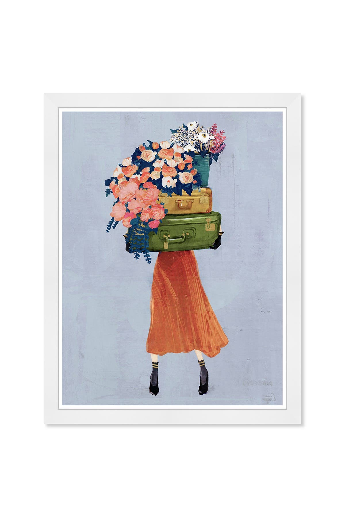 Image of Wynwood Studio The Case of Fall Bouquet Gray Framed Wall Art