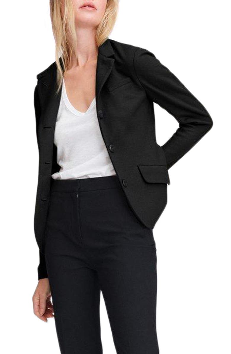 RAG & BONE Slade Wool Blazer, Main, color, BLACK