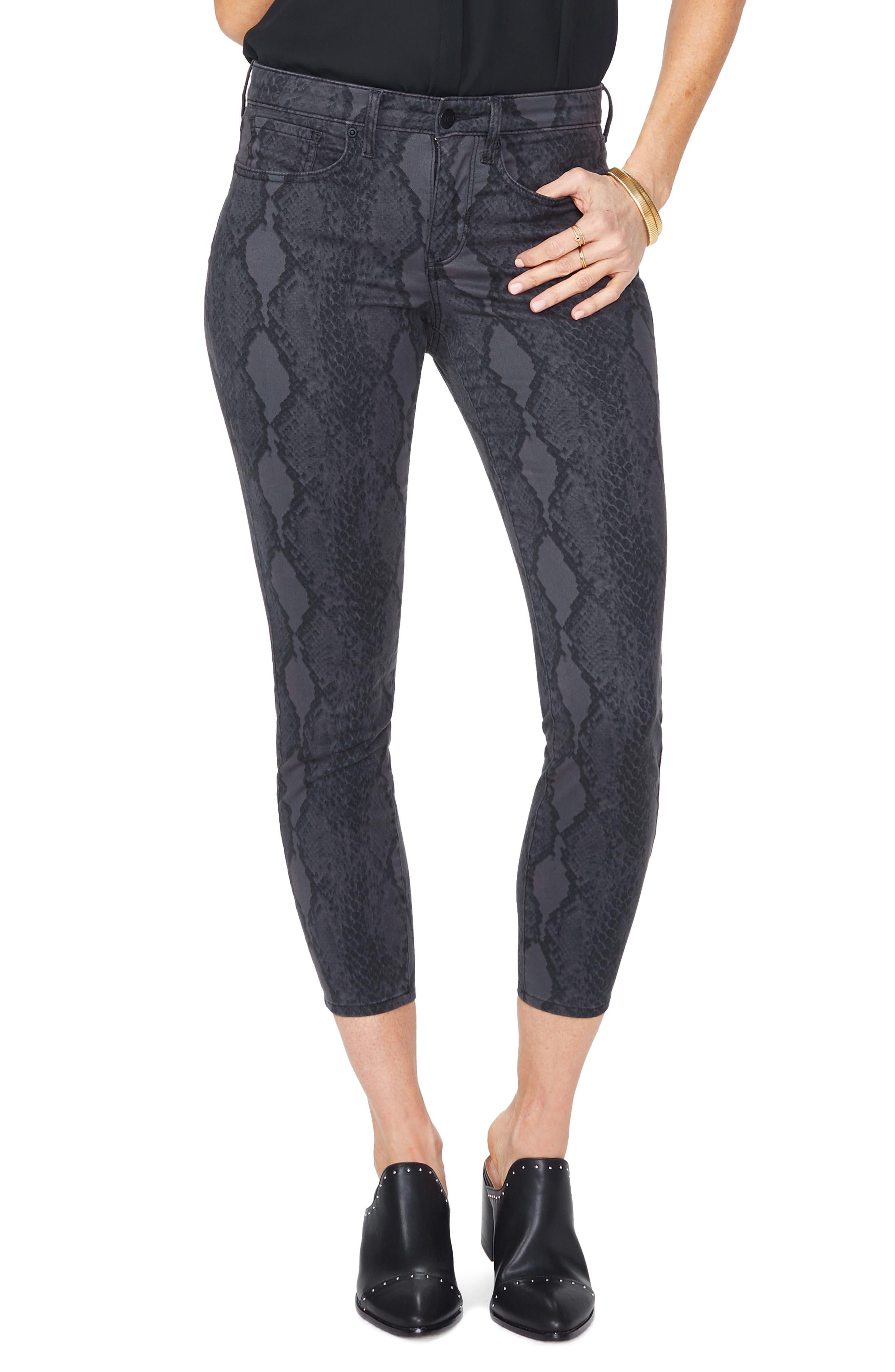 Ami High Waist Camo Ankle Skinny Jeans, Main, color, DIAMONDBACK