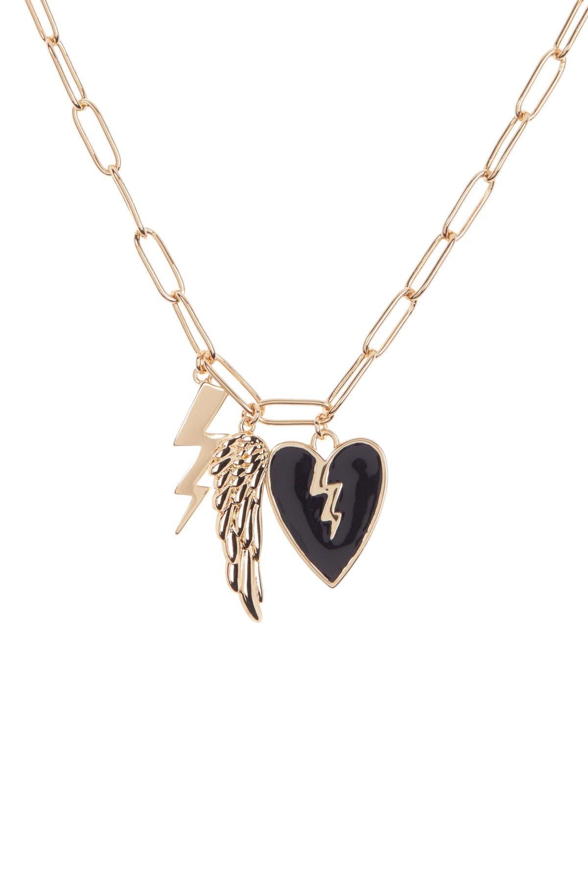 Image of Rebecca Minkoff Rocker Charm Cluster Pendant Necklace