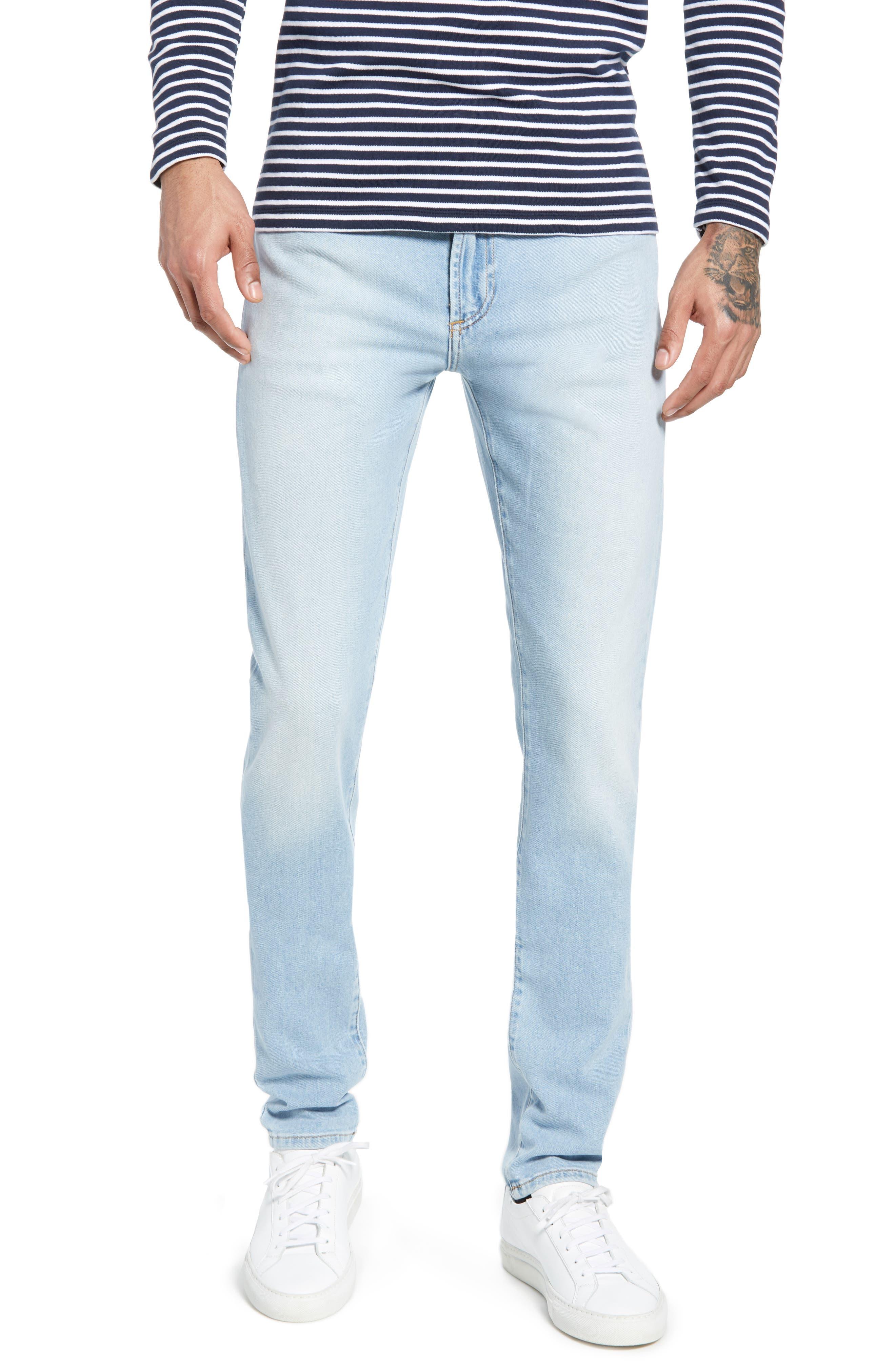 ,                             Greyson Skinny Fit Jeans,                             Main thumbnail 1, color,                             MYKONOS