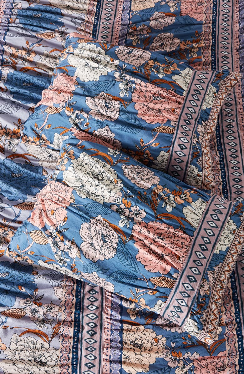 ANTHROPOLOGIE Tiled Garden Set of 2 Shams, Main, color, MULTI BLUE