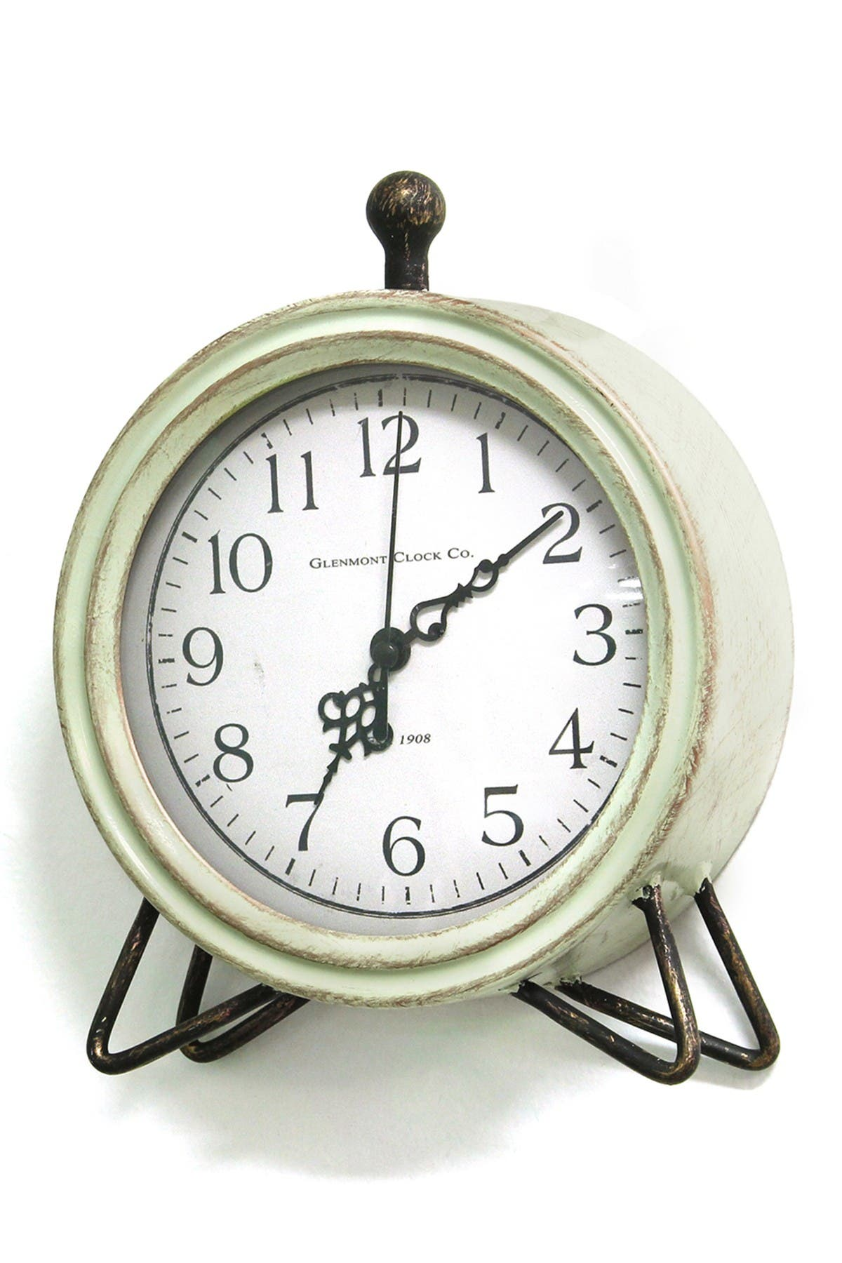 Image of Stratton Home Green Oliver Table Top Clock