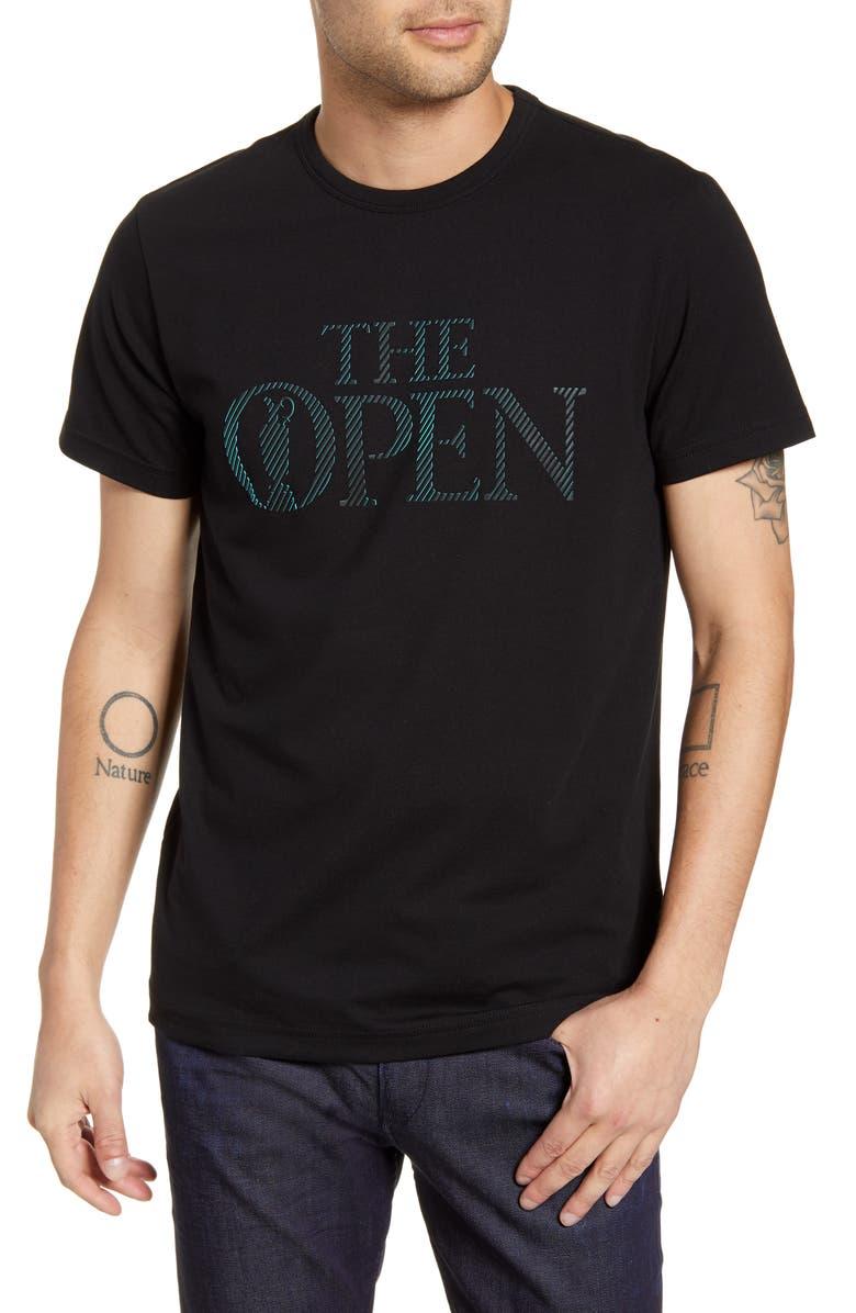 BOSS British Open Regular Fit Graphic T-Shirt, Main, color, BLACK