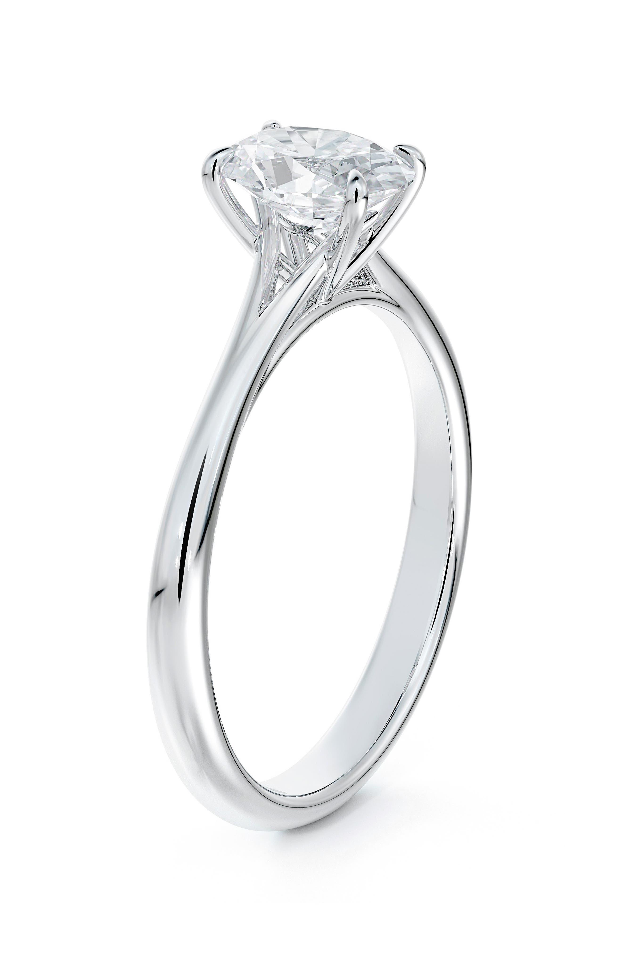 Icon(TM) Setting Oval Diamond Engagement Ring