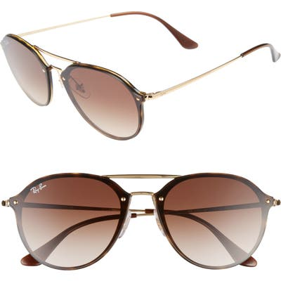 Ray-Ban 62Mm Gradient Lens Aviator Sunglasses - Havana