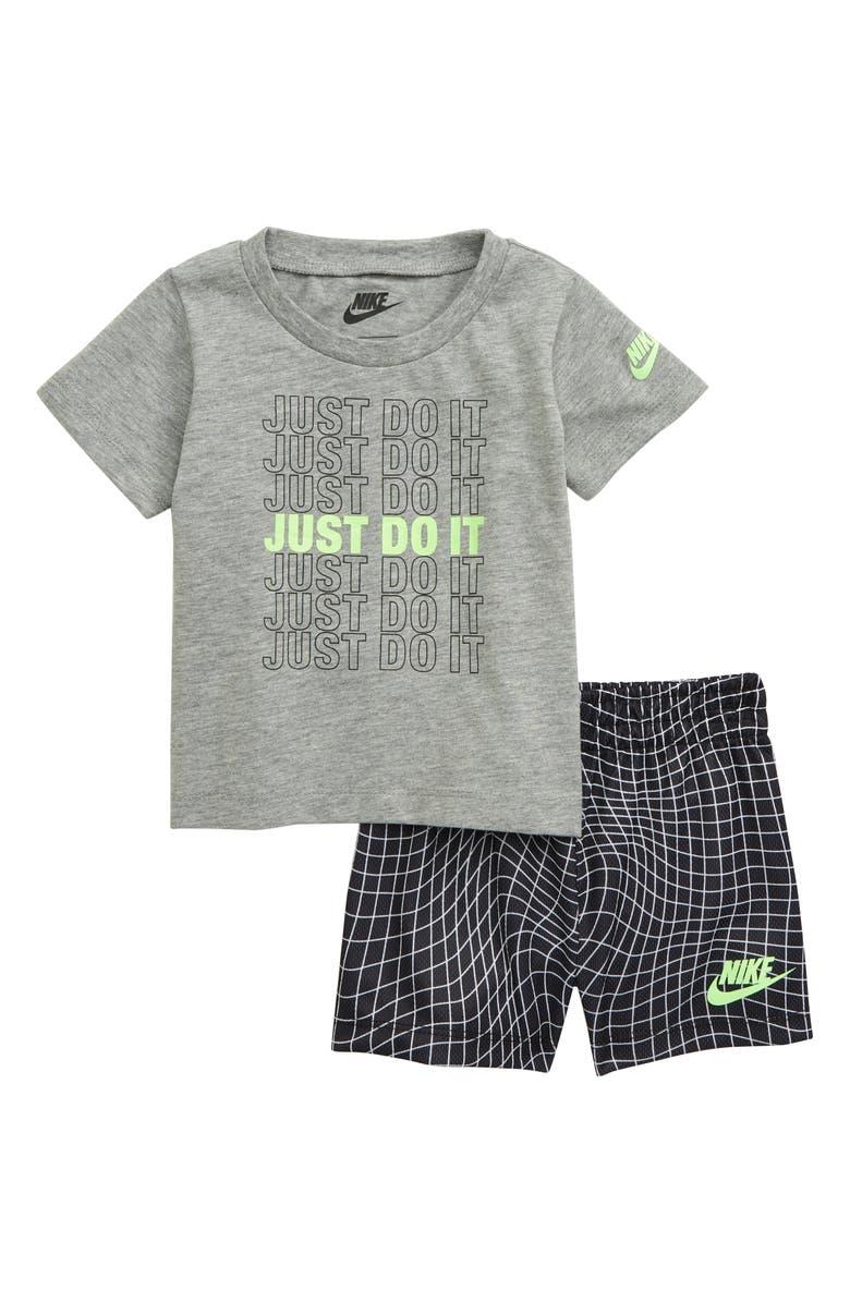NIKE Just Do It Print T-Shirt & Shorts Set, Main, color, 006