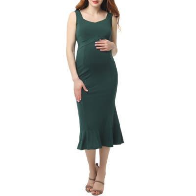 Kimi And Kai Kora Maternity Mermaid Midi Dress, Green