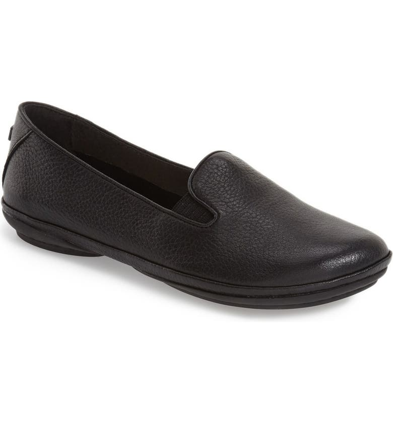 CAMPER 'Right Nina' Leather Flat, Main, color, BLACK/ BLACK LEATHER