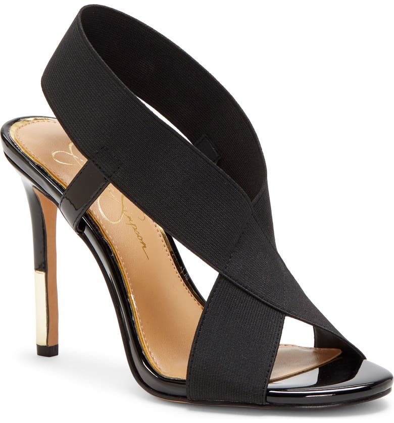 JESSICA SIMPSON Jordiya Sandal, Main, color, BLACK FABRIC