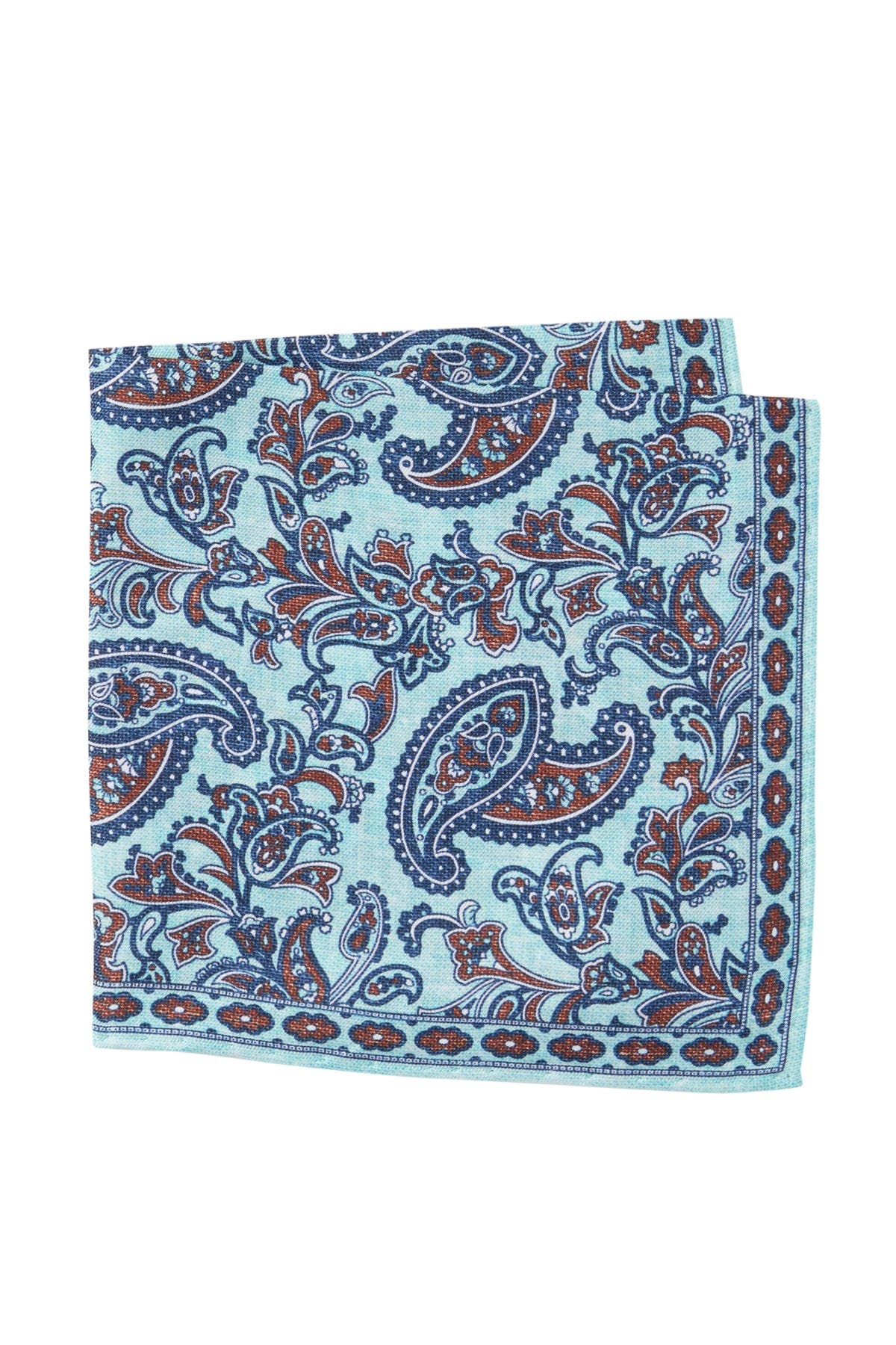 Image of TM LEWIN Silk Textured Paisley Pocket Square
