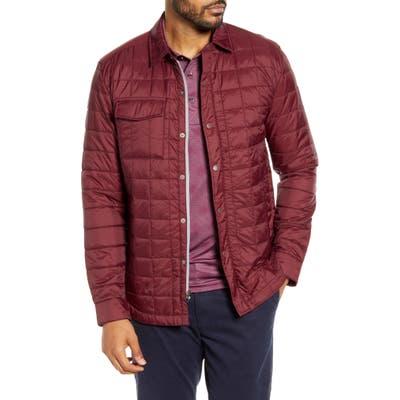 Cutter & Buck Rainier Primaloft Insulated Shirt Jacket, Red