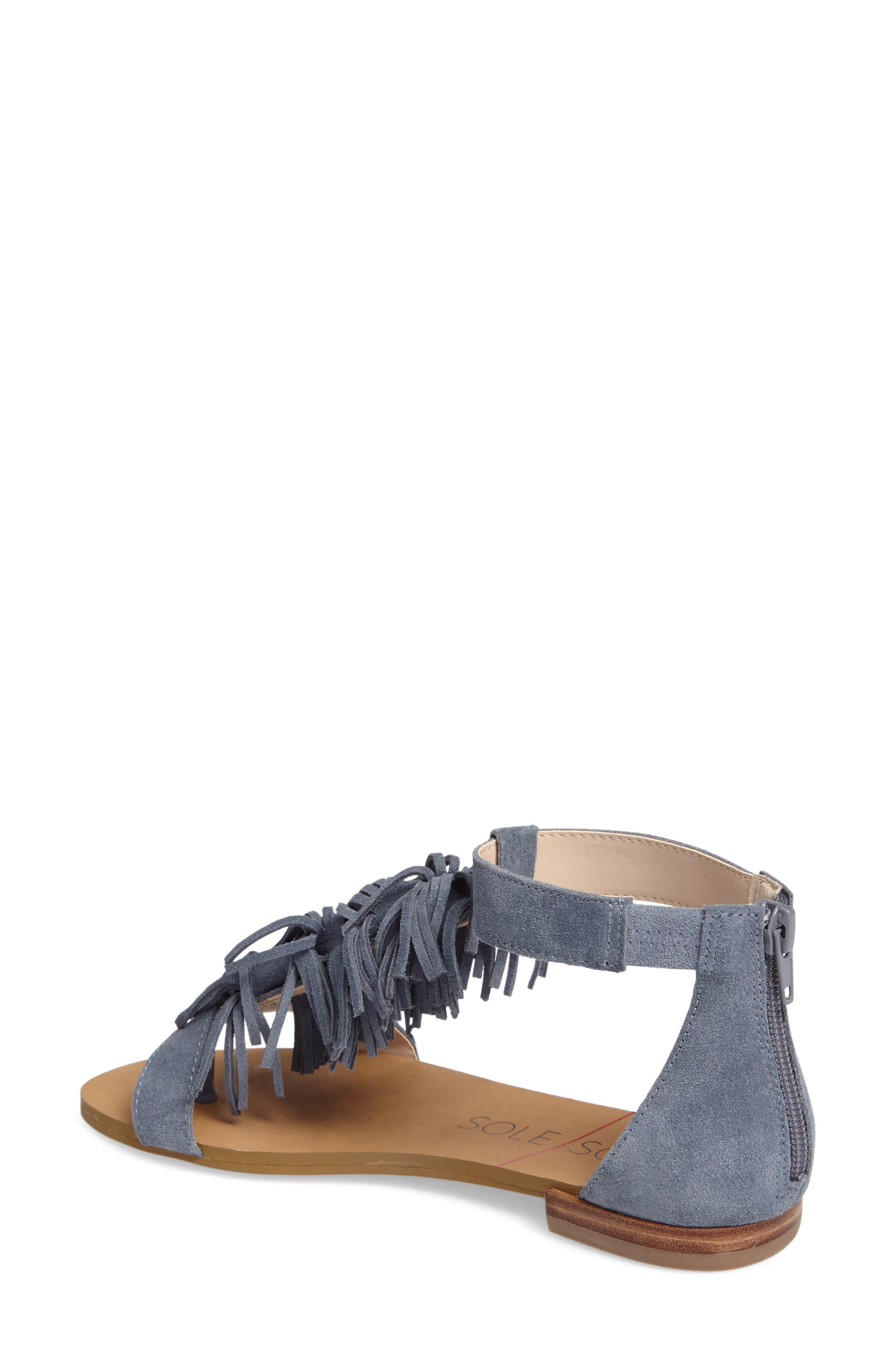 ,                             Koa Fringed T-Strap Sandal,                             Alternate thumbnail 14, color,                             450