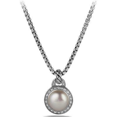 David Yurman Albion Petite Cerise Pendant Necklace With Pearl And Diamonds