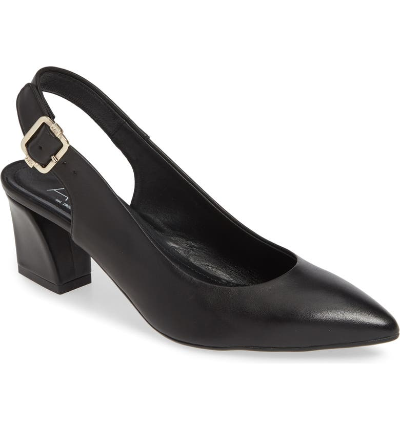 AGL Slingback Pump, Main, color, BLACK LEATHER