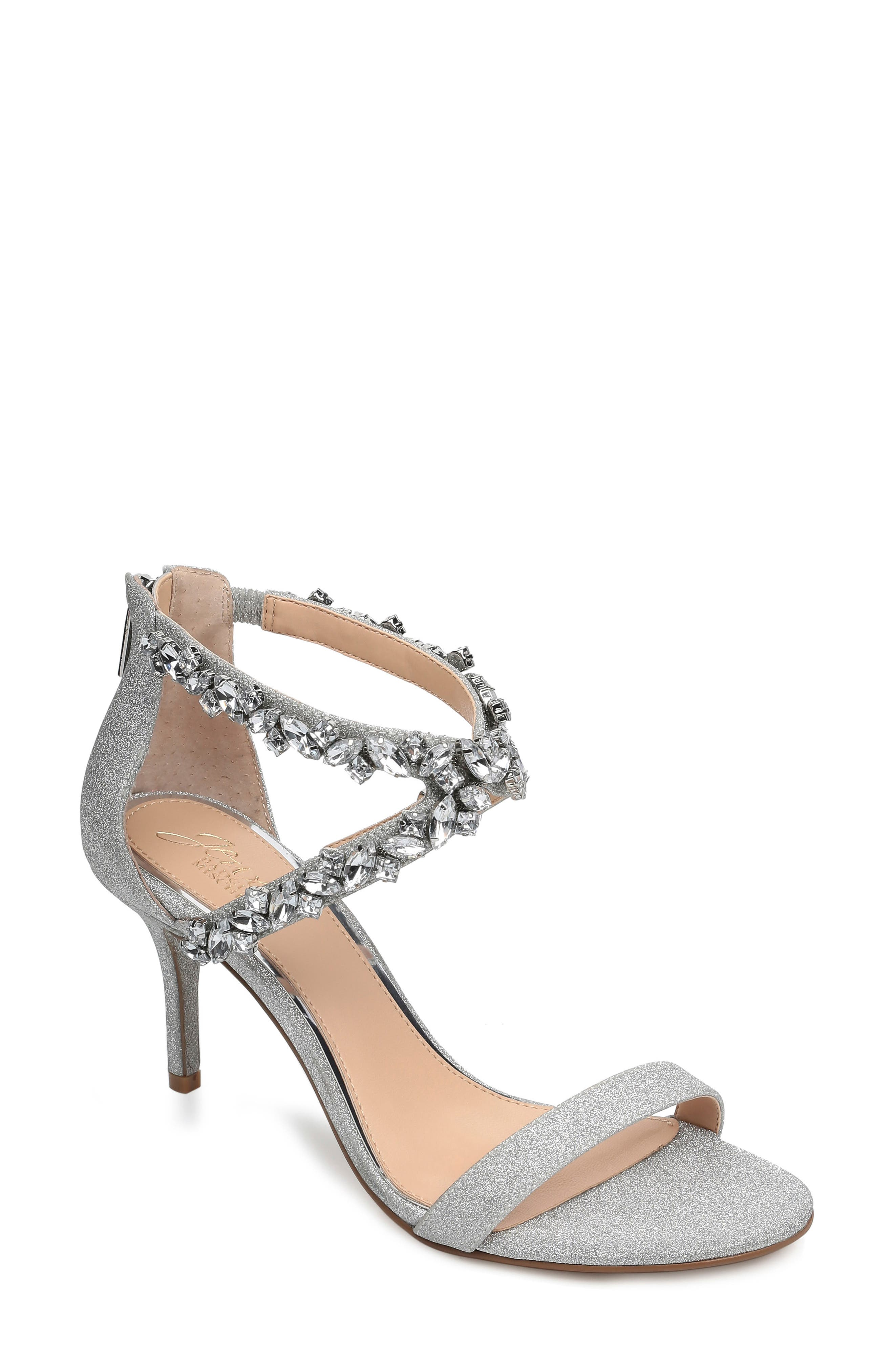 Jaylee Sandal, Main, color, SILVER SATIN