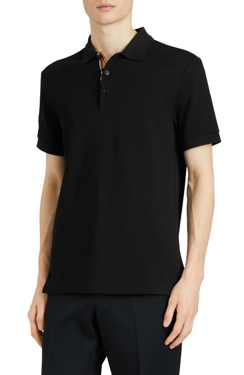 BURBERRY Hartford Piqué Polo, Main, color, 001