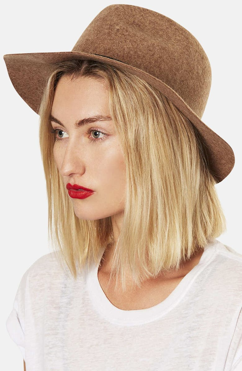 TOPSHOP Wool Fedora, Main, color, 251