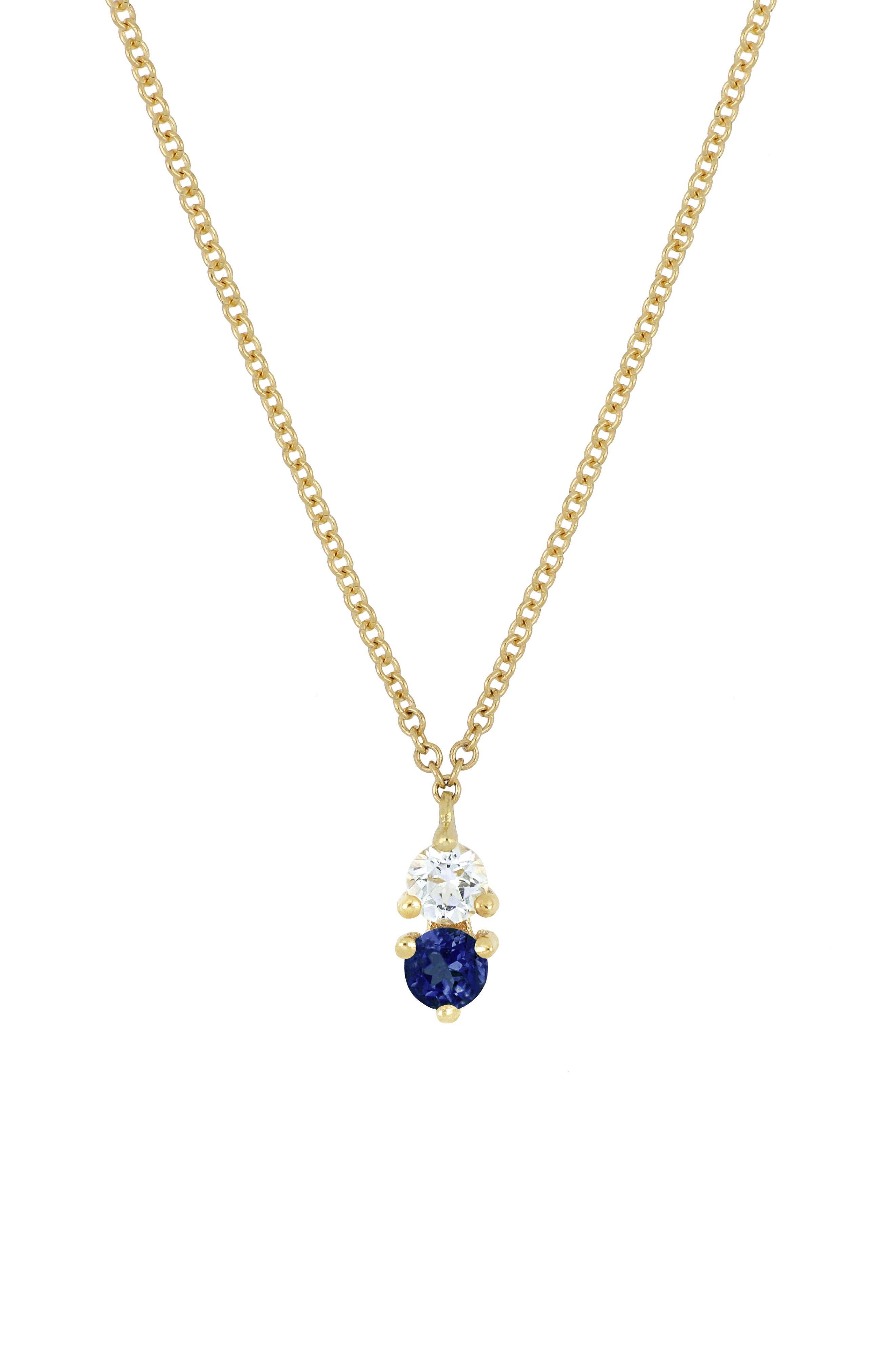 ,                             Birthstone Pendant Necklace,                             Main thumbnail 9, color,                             401