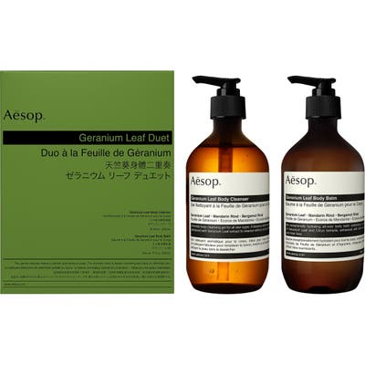 Aesop Geranium Leaf Body Cleanser & Body Balm Duet