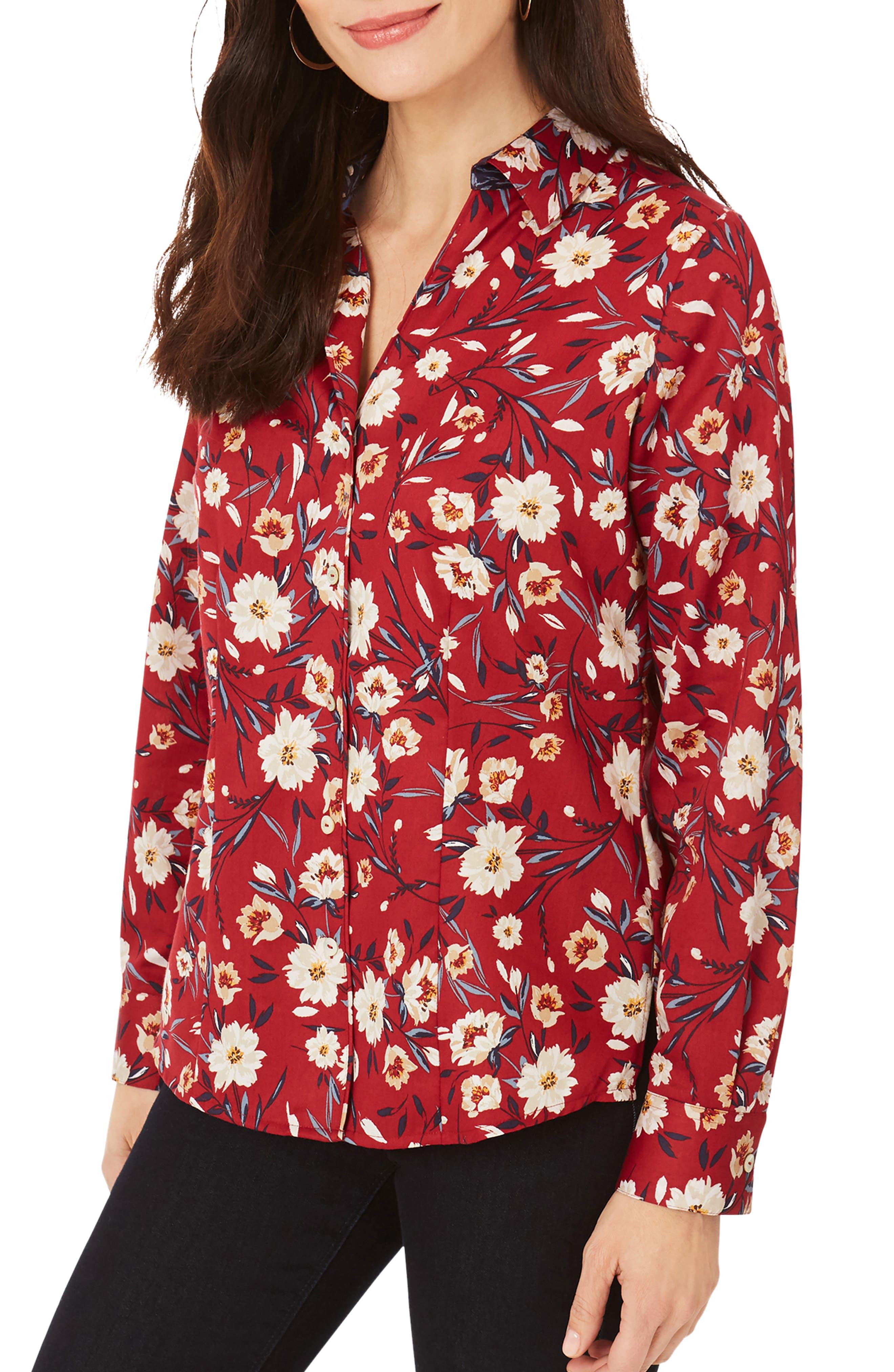 Lauren Windswept Floral Print Button-Up Shirt