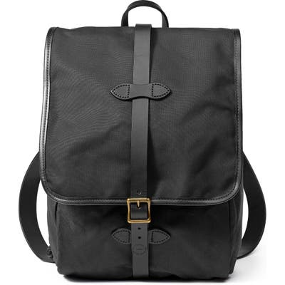Filson Tin Cloth Backpack - Black