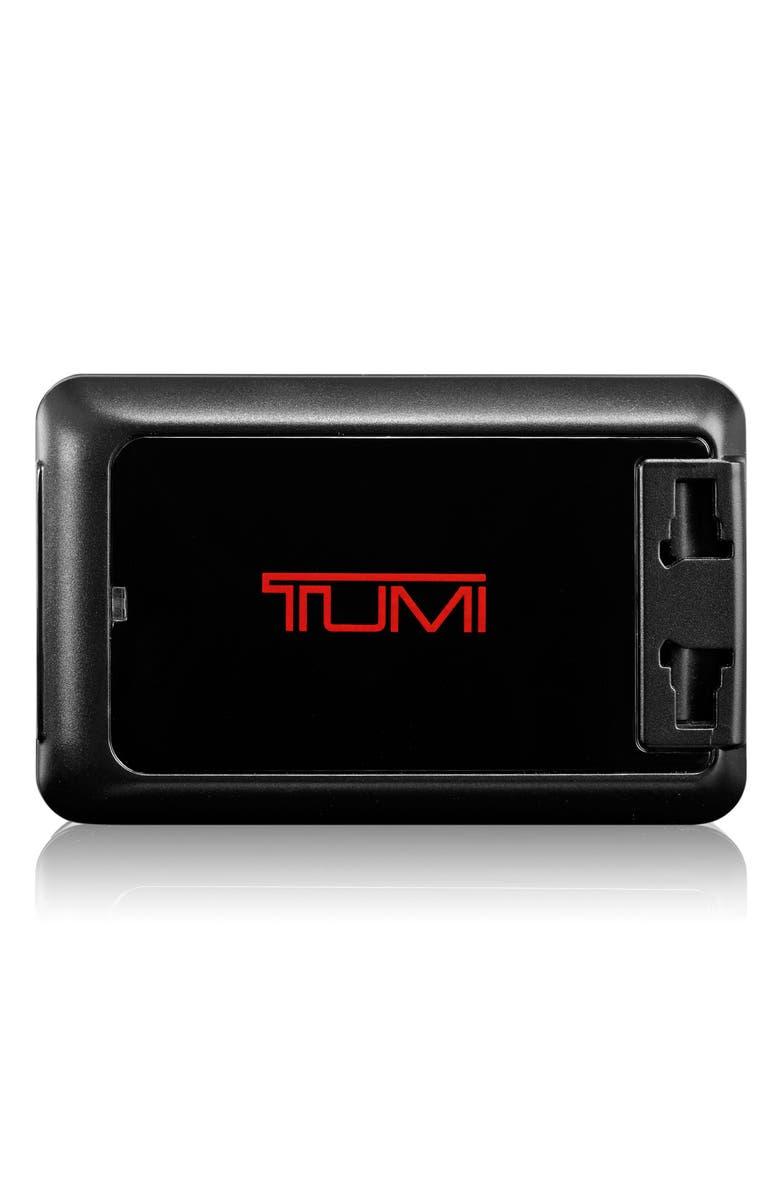 TUMI Four-Port USB Travel Adaptor, Main, color, BLACK