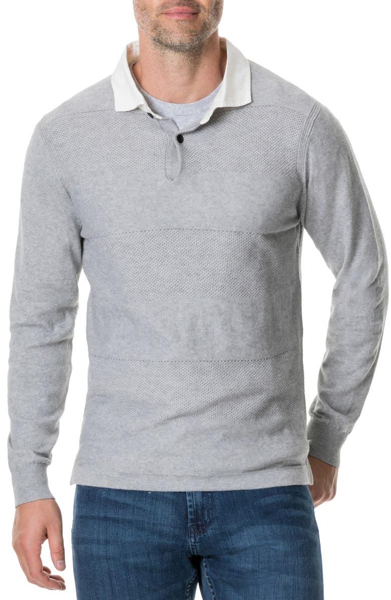 RODD & GUNN Lockington Collared Pullover, Main, color, 200